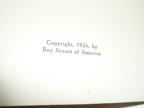 1926 A Manual of Customs and Drills, Boy Scouts of America, 70 pages