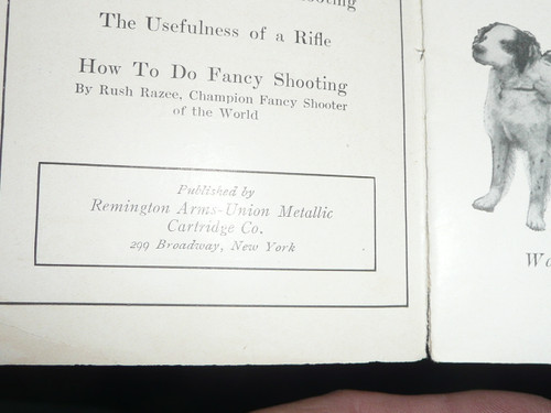 "Early Remington Firearms Pamphlet titled ""Four American Boys Who are Famous Rife Shots, Boy Scout on Cover"