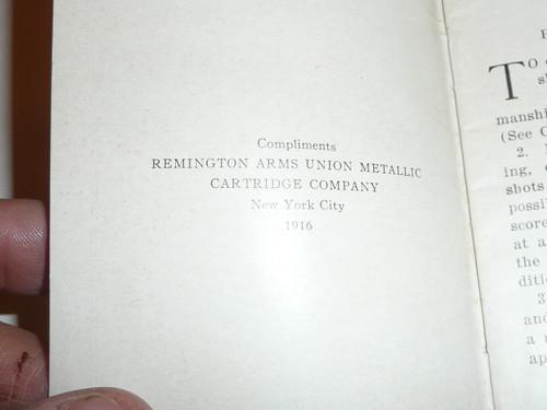 """1916 Remington Firearms Pamphlet titled """"Boy Scout Marksmanship"""", by Edward Cove"""