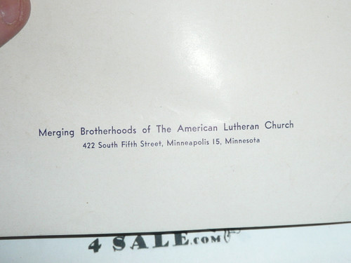American Lutheran Church Pamphlet for the Boy Scouts of America 50th Anniversary, 1960