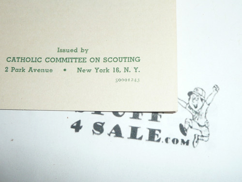 1943 Catholic Boy Scout Guard of Honor Before the Blessed Sacrament, 12-43 Printing