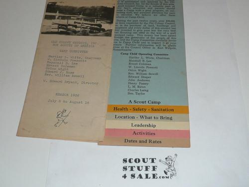 1938 Camp Child Brochure, Boy Scouts of America