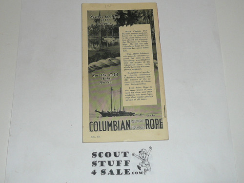Rope Knowledge for Scouts, 1933 by Columbian Rope Company, 34 pages,