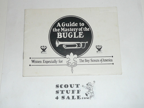 1925 A Guide to the Mastery of the Bugle, by Rexcraft, Boy Scouts