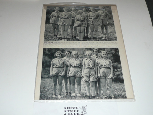 "1937 Magazine article ""Girl Scouts Hold Silver Jubilee Encampment at Briarcliffe Manor NY"""