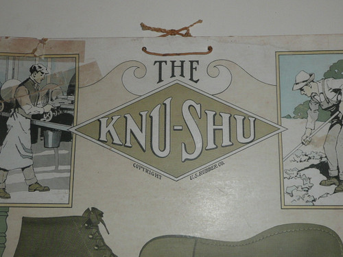 Early Promotional Poster on Card Stock for Knu-Shu featuring a Boy Scout, fair condition