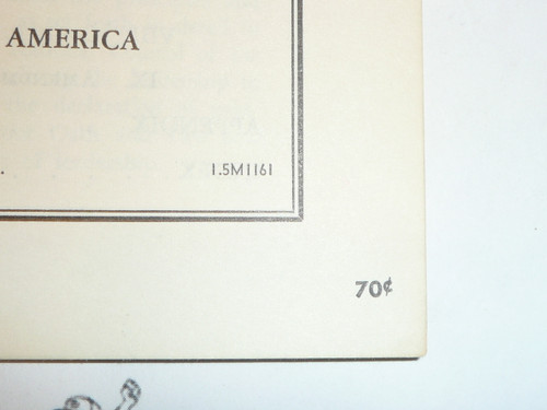 1961 Charter and Bylaws of the Boy Scouts of America, 11-61 Printing