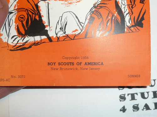 1958 Securing A Scoutmaster Pamphlet, 4-58 printing