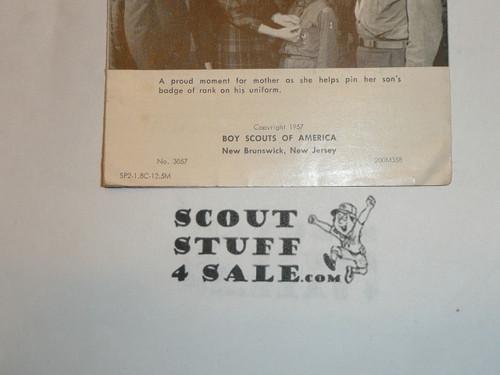 1958 Hi Parents, Glad you're with us Pamphlet, 3-58 printing