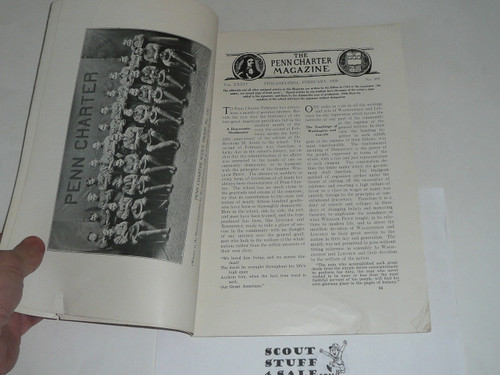 1920 February The Penn Charter Magazine with an article about the Boy Scouts