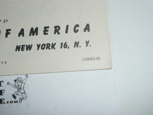 1950 Summer Program for Cubs, Boy Scouts of America, 1-50 Printing