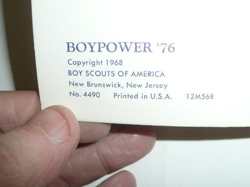 1968 Boy Power - Man Power National Theme Pamphlet, 5-68 printing