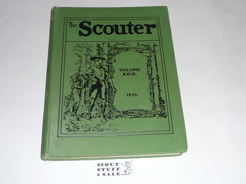 "1935 Bound volume of ""The Scouter"", United Kingdom Scout Leader Magazine"