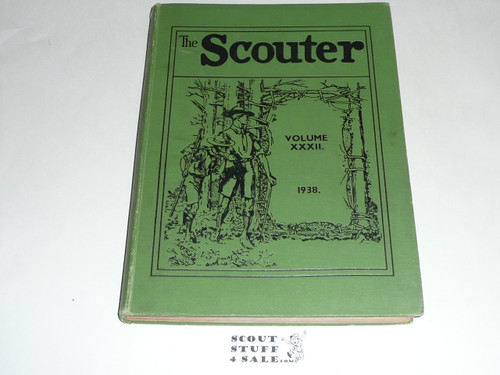 "1938 Bound volume of ""The Scouter"", United Kingdom Scout Leader Magazine"