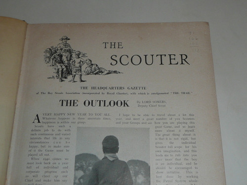 "1939 Bound volume of ""The Scouter"", United Kingdom Scout Leader Magazine"