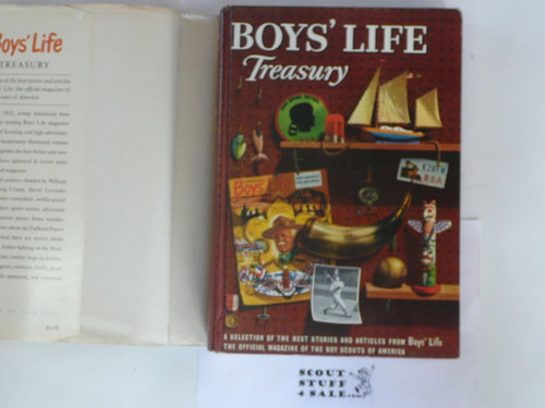Boys' Life Treasury Book, 1958, with dust jacket and MINT Book, color cover