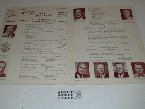 1956 Region 12 Annual Regional Meetings Program, Boy Scout
