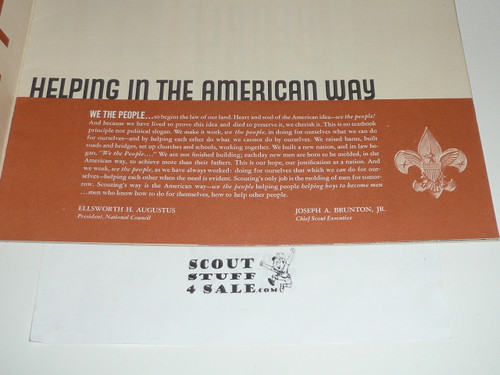 1950's We the People Building A Strong America Pamphlet, Boy Scouts of America Report