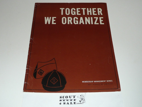 1970 Together we Organize, Boy Scouts of America, 1-70 Printing