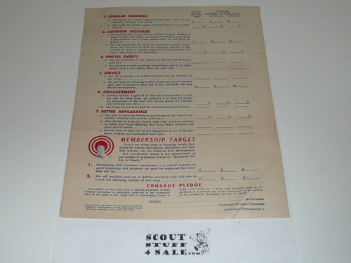 1950 Strengthen The Arm of Liberty Crusade Program Highlights, Boy Scouts of America