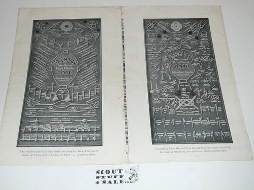 1925 Columbian Rope Company Knot Chart