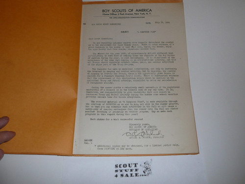 1934 A Camporee Plan, Boy Scouts of America, 23 numbered pages