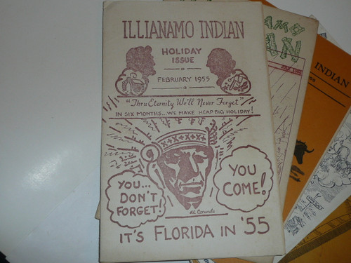 1955 Group of 6 Illianamo Indian Lone Scout Tribe Newspapers