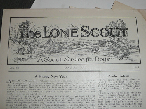 1932-1934, group of  12 issues of The Lone Scout Magazine