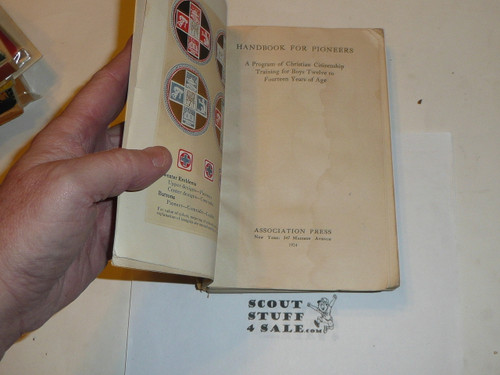 1924 Handbook for Pioneers, Christian Citizenship Program, some spine wear
