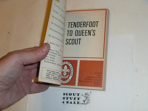 1965 Tenderfoot to Queen's Scout Book, Canadian