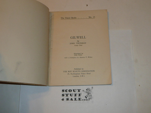 Gilwell, Boy Scout Association, Great Britain, 1955 printing