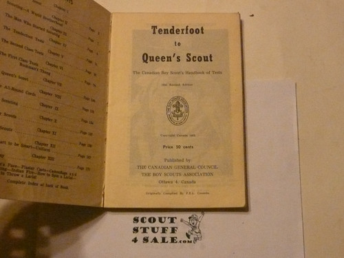 1955 Tenderfoot to Queen's Scout Book, Canadian