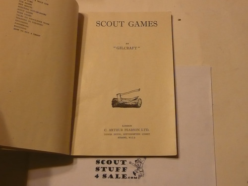 Scout Games Gilcraft, Boy Scout Association, Great Britain, 1947 printing