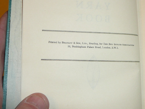 Akela's Yarn Book, Boy Scout Association, Great Britain