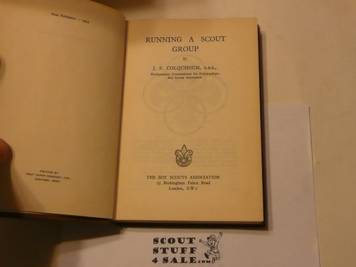 Running a Scout Group, Boy Scout Association, Great Britain, 1954 printing