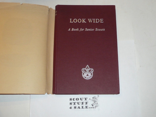 Look Wide A Book for Senior Scouts, Boy Scout Association, Great Britain, with fly leaf