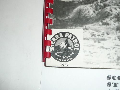 1957 KFI Sierra Patrol Hike Book