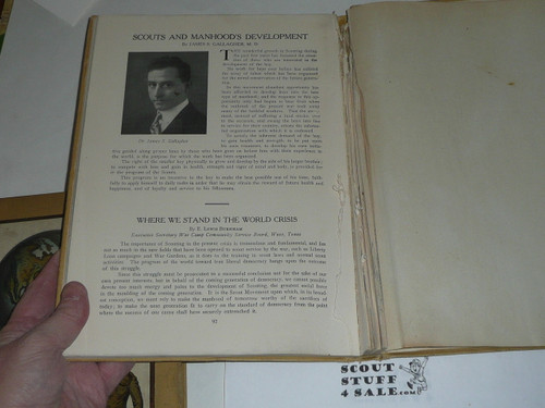 1918 Year Book of Philadelphia Council book, Boy Scouts of America, some pages removed
