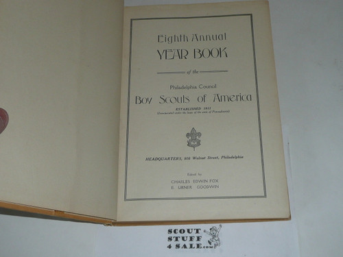 1921 Year Book of Philadelphia Council book, Boy Scouts of America