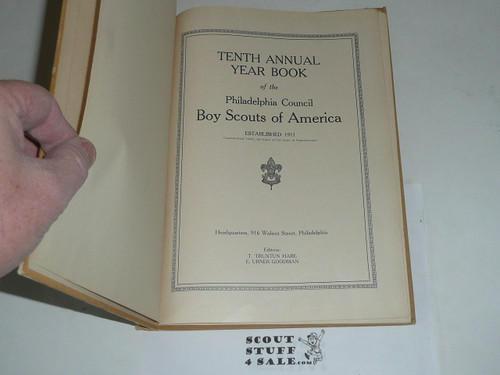 1923 Year Book of Philadelphia Council book, Boy Scouts of America, some pages removed