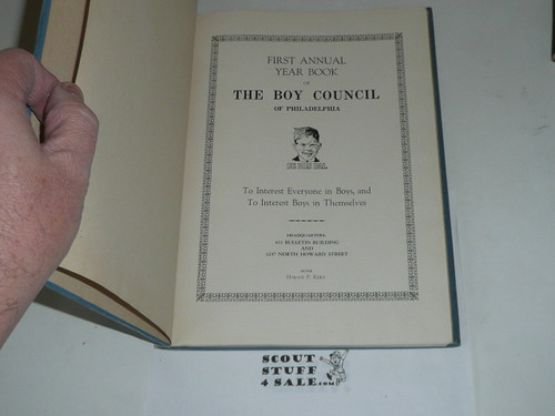 1924 Year Book of Philadelphia Council book, Boy Scouts of America