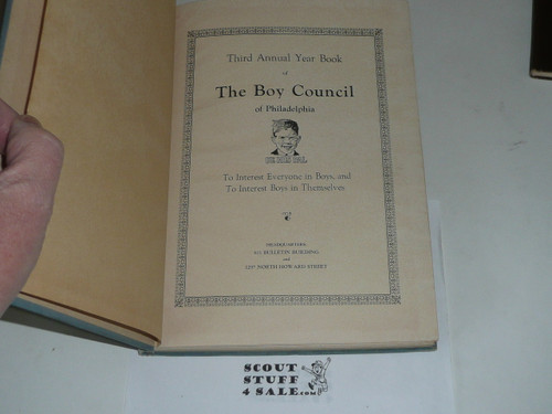 1926 Year Book of Philadelphia Council book, Boy Scouts of America, some pages removed