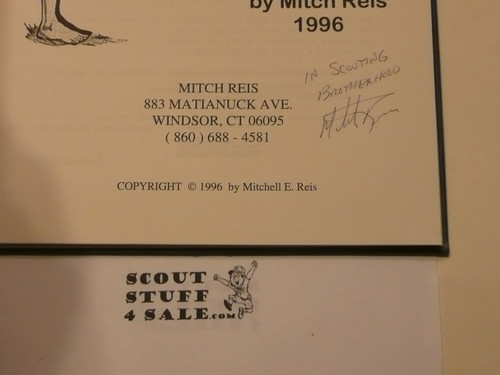 The History of the Lone Scouts Through Memorabilia, By Mitch Reis, 1996 printing, signed by author