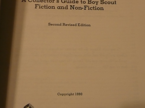 Collecting Scout Literature, By Fisk & Bearce, 1990 printing