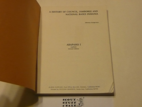 History of Scouting Through Insignia, Arapaho I update, by Breithaupt and Hoogeveen, 1984 printing