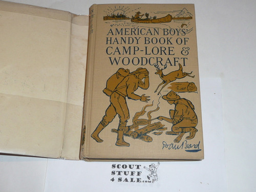 1920 American Boys' Handy Book of Camp-Lore & Woodcraft, By Dan Beard, First printing, with dust jacket
