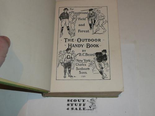 1909 The Outdoor Handy Book of Camp-Lore & Woodcraft, By Dan Beard