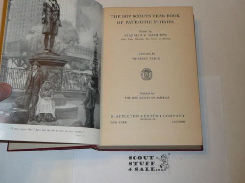 1941 The Boy Scouts Year Book of Patriotic Stories
