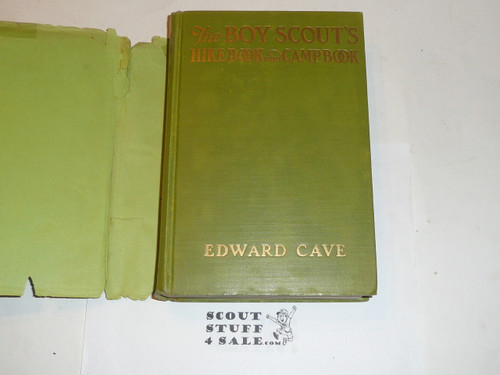 1923 The Boy Scout's Hike Book, By Edward Cave, Norman Rockwell's first book of illustrations, with dust jacket