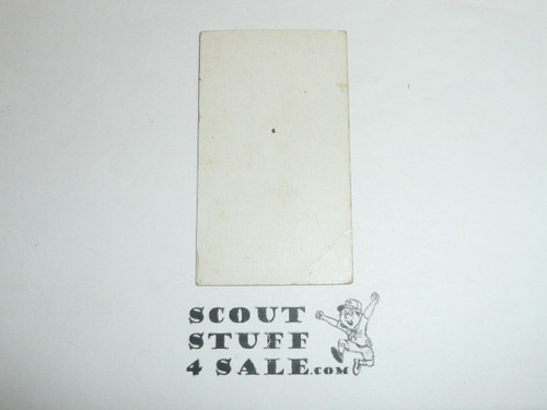 British American Tabacco Company Premium Card, Scouts Signaling Series of 30, Interval Card, 1922